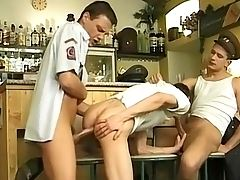 Uniformed Bar Room Boners - The uniformed customers of this particular bar get more than they expected